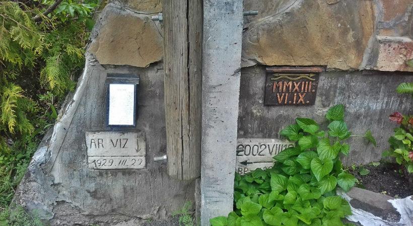 Kisoroszi árvíz - emléktábla