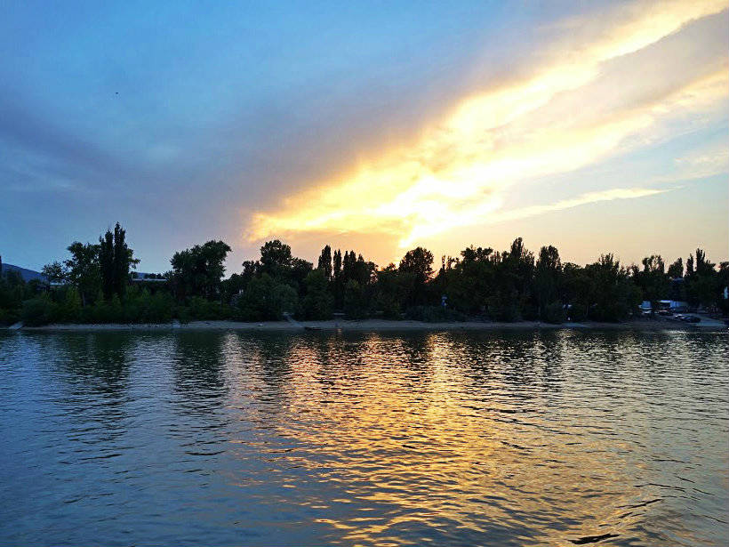 naplemente a Dunakanyarban