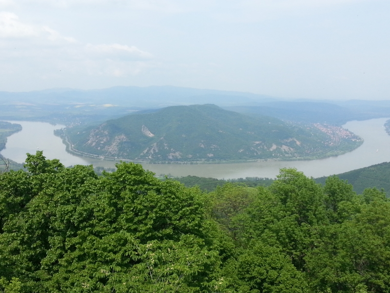 Dunakanyar panoráma a Prédikálószékről