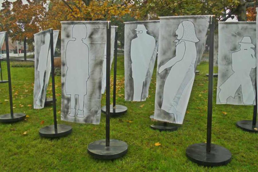 Kortárs művészek installációi Szentendrén