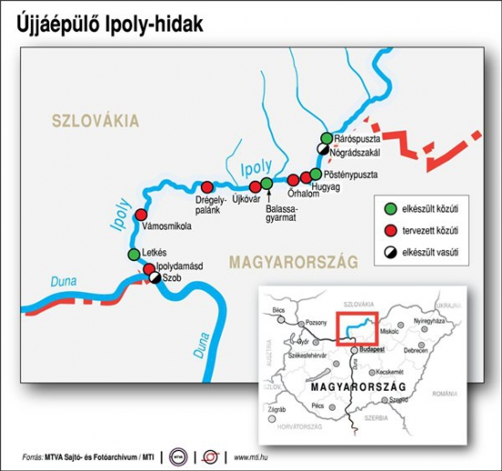 Ipoly-híd tervek
