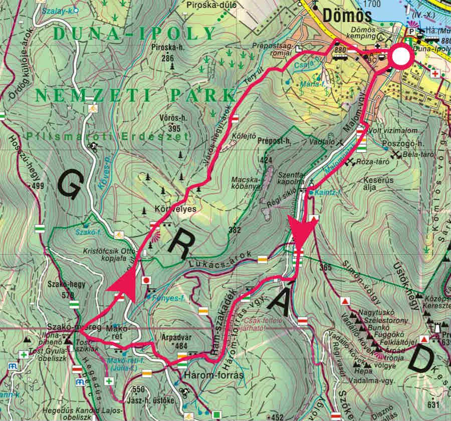 Rám-szakadék térkép