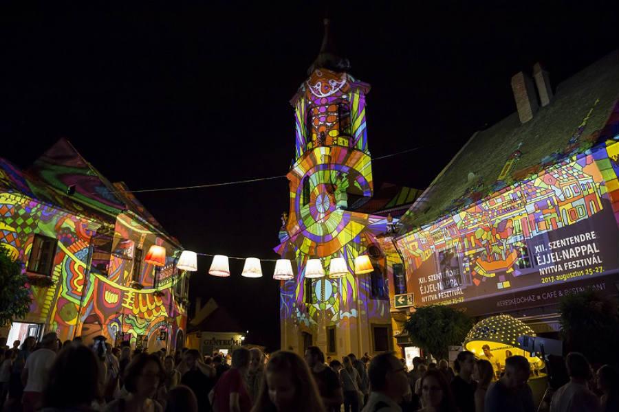 Szentendrei fényfestés