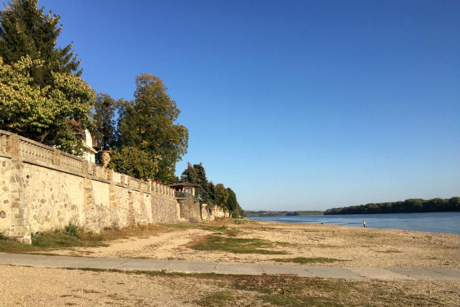 Verőce - Duna-parti támfal, Ybl Miklós