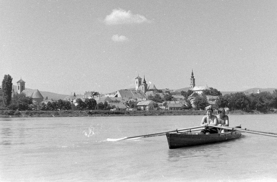 Szentendre, Duna korzó, 1959