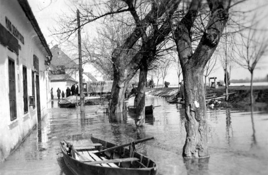 Árvíz, Szentendre, Duna korzó, 1940