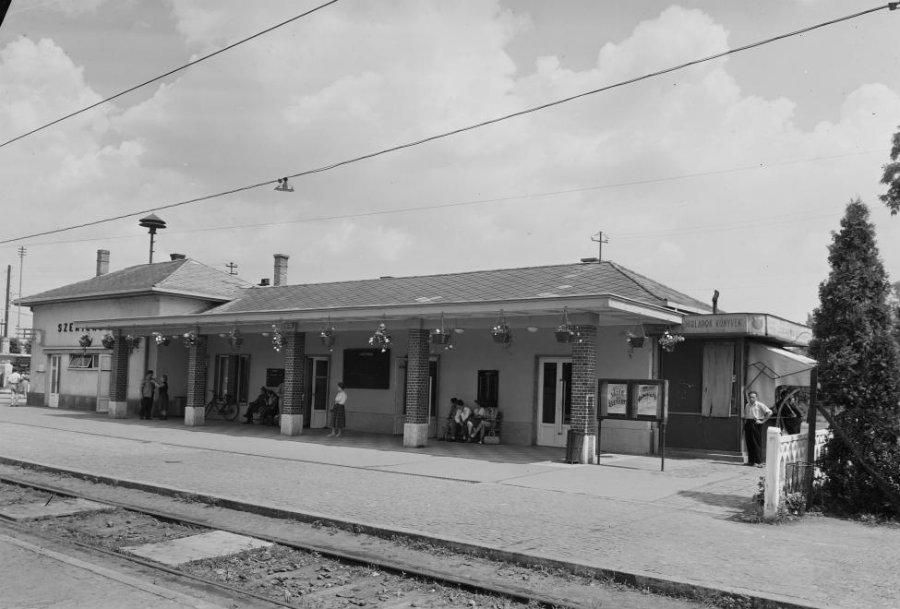 Szentendre, HÉV állomás, 1957