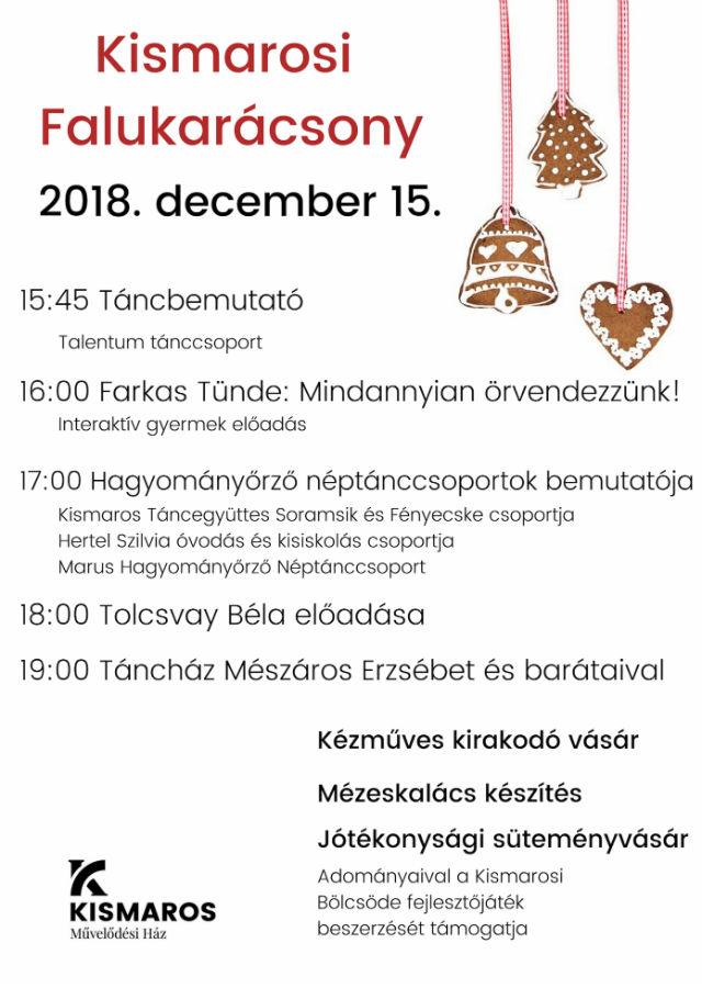 Kismarosi Falukarácsony 2018