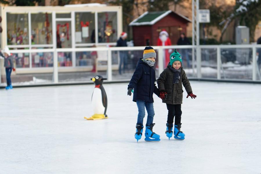 Korcsolyapálya, Szentendre gyerekekkel télen