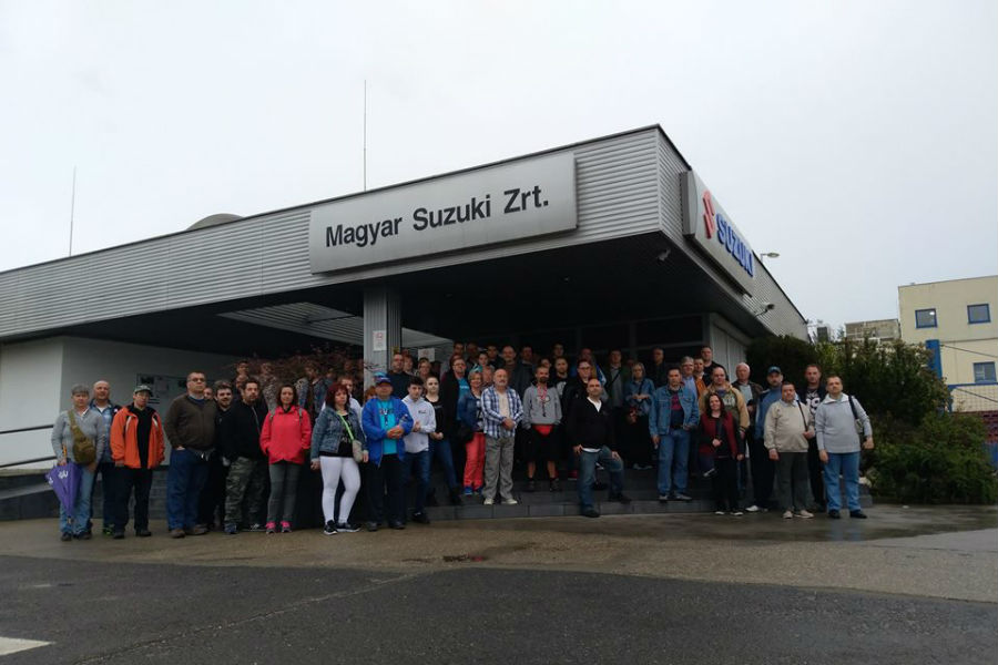Suzuki gyárlátogatás Esztergom