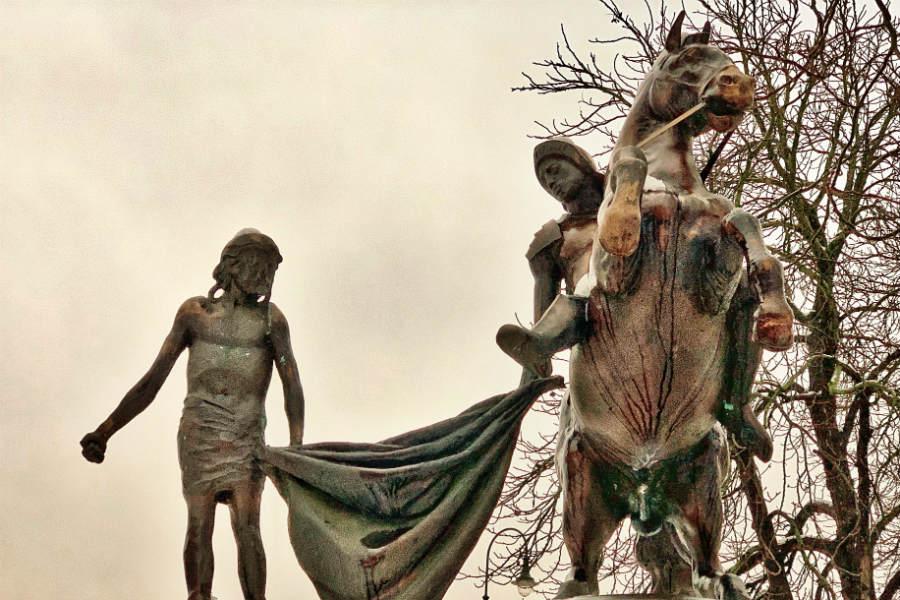 Szent Márton szobor Nagymaros