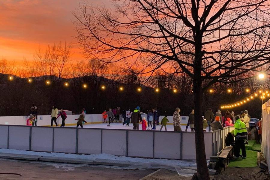 téli sportok Visegrádon, jégpálya