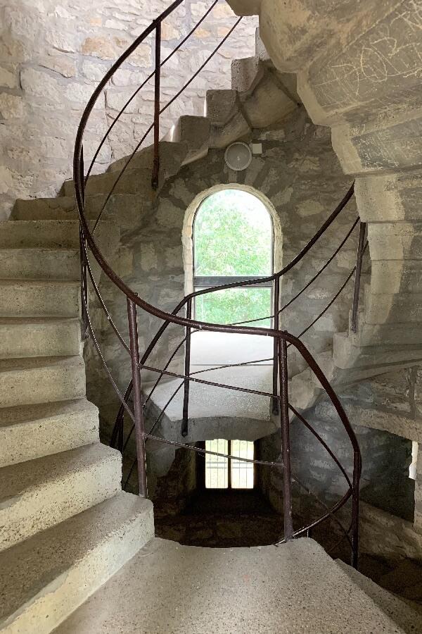 Zsitvay-kilátó lépcső